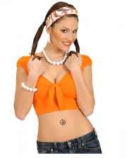 White plastic pearl necklace