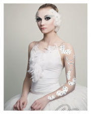 Body Art Tattoo White Feathers