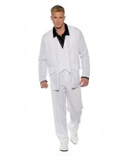 White 70s Men Costume Suit