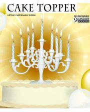 Weißer Kerzenständer für Kuchen & Torten