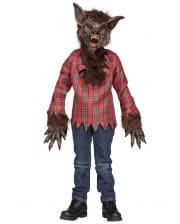 Werewolf Kids Costume With Mask Brown