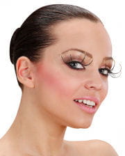 Maxi eyelashes with peaks and gold glitter