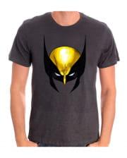 Wolverine Mask Motif T-Shirt