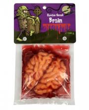 Zombie Brain mit Blut Glibber Fruchtgummi