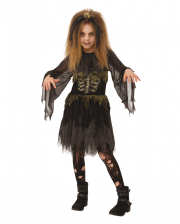 Zombie Costume With Skeleton Print For Children