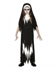 Zombie Nonne Kinder Kostüm Kleid