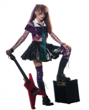 Zombie Punk Rocker Girl Child Costume