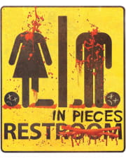 Zombie Restroom Aufkleber Rest in Pieces 29x32cm