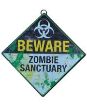 Zombie Schutzgebiet Warnschild 28 cm