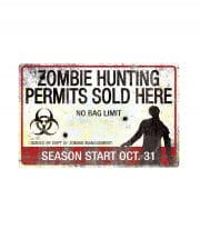 Zombie hunting ground metal plate