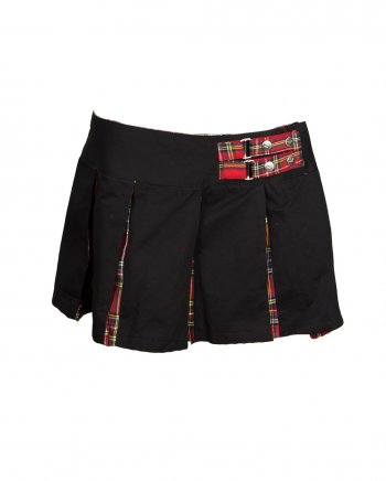 Mini Pleated Skirt With Check Pattern Size 32