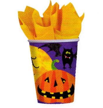 Paper cups Halloween motifs 8 St.