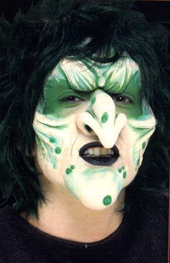 Hexen Gesicht Latex