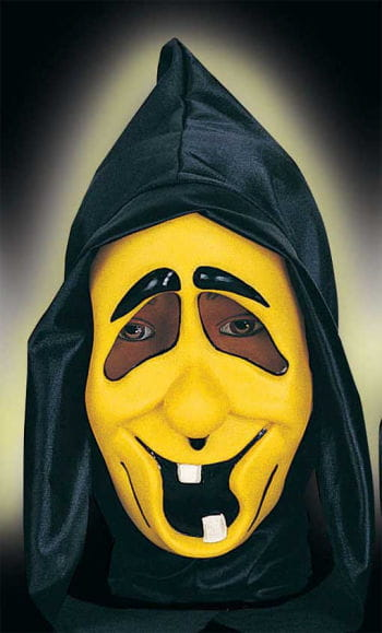 Funny Ghost Child Mask Toothy Neon Yellow