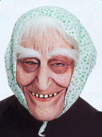 Alte Oma Maske Stoiber
