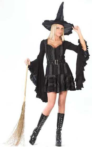 Frivolous Gothic Witch Costume. ML