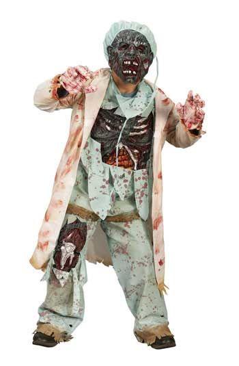 Zombie Doktor Deluxe Kinderkostüm Gr. L