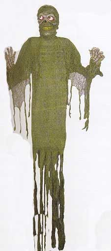 Grüne Fetzen Mumie Dekoration