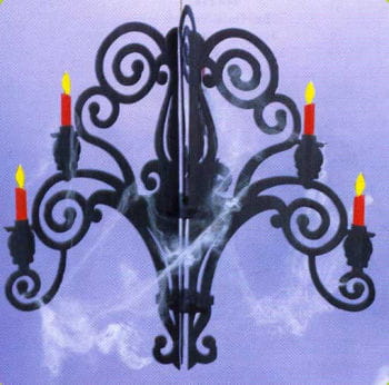 Halloween candlesticks / chandeliers