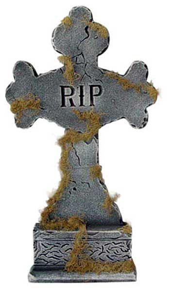 Tombstone Mossy Cross