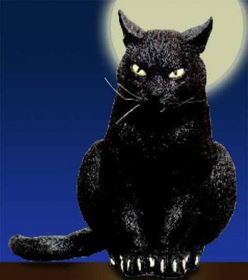 Lurking Black Cat 31cm