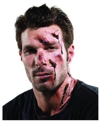 Unfall Make-up Set für Halloween 15 tlg.
