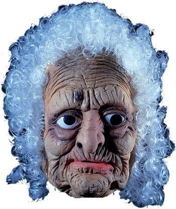 Ols Woman Latex Mask with Hair