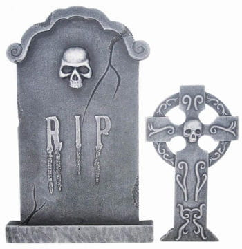 2piecable grave stone set 76cm tall