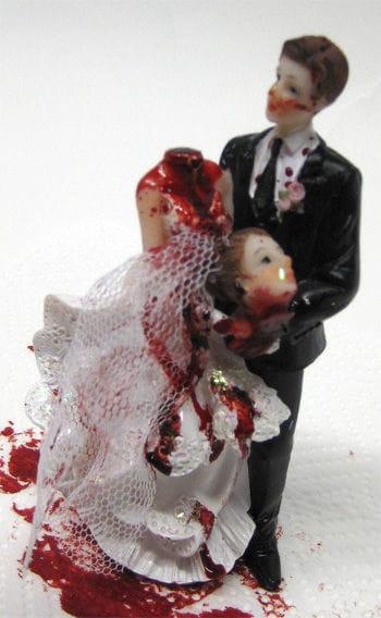 Brautpaar mit geköpfter Braut 14cm