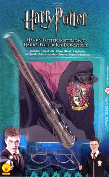 Harry Potter Robe with Magic Wand and Glasses