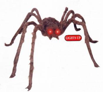 Braune Spinne mit leuchtenden LED Augen