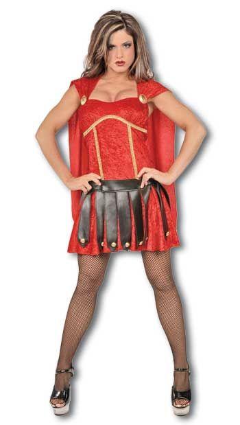 Sexy Gladiator Kostüm rot  Gr. S / 36