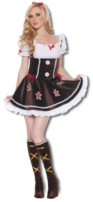 Delikate Lebkuchenfrau Premium Kostüm