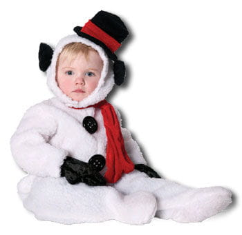 Fluffy Snowman Kids Costume. S