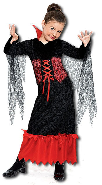 Vampirkönigin Kinderkostüm Gr.M