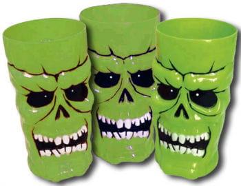 Neon Skull Cups Green