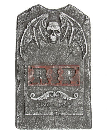 Grave stone skull with demon wings