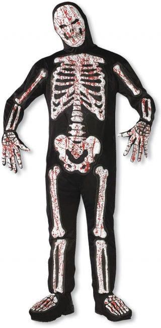 Blutiges 3D Skelett Kostüm