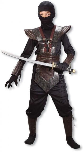 Ninja Fighter Kinderkostüm braun M