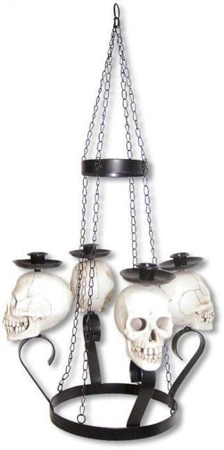 Totenkopf Kerzen Lüster