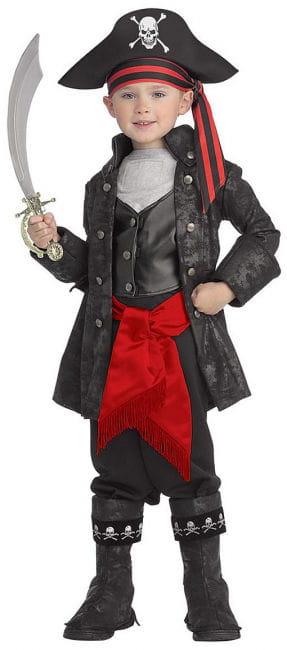 Captain Black Piraten Kinderkostüm M