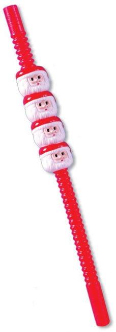 Weihnachtsmann Trinkhalme 5 Stck
