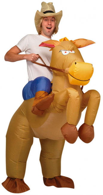 Inflatable Horse Riding Cowboy Costume