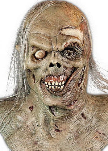 Zombie Maske mit Kunsthaar