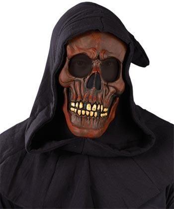 Kapuzen Schädel Maske rot