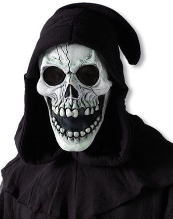 Hooded Skull Mask White