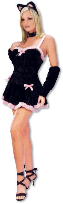 Sexy Plush Kitten Costume SM
