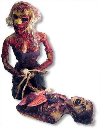 Blutiges Zombiepärchen