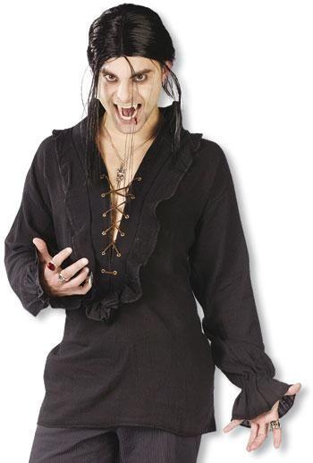 Vampir Hemd Schwarz