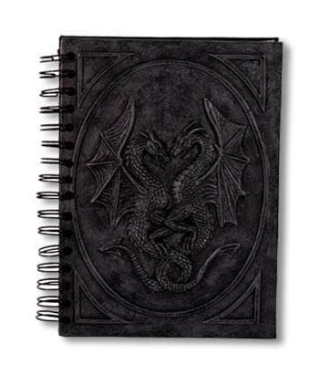 Notebook with dragon motif